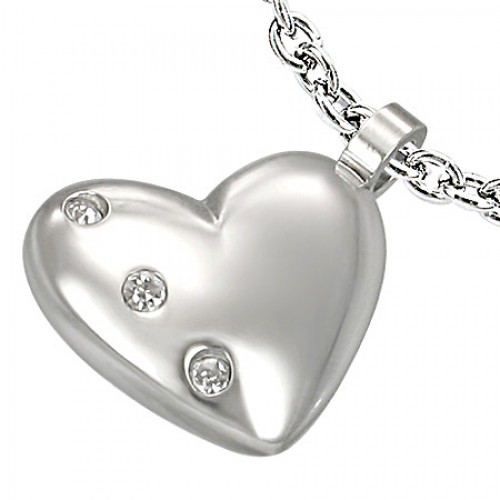 Obesek Zircon Heart