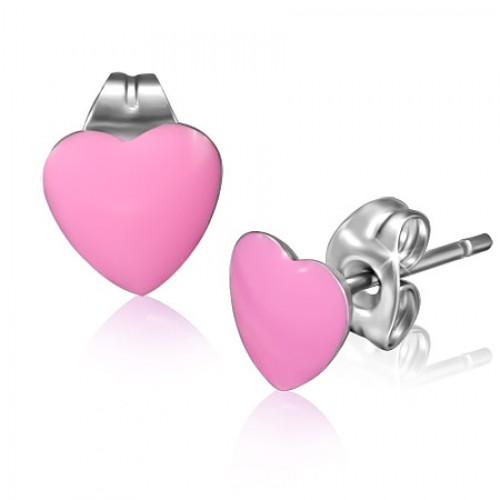 Uhani Pink Heart